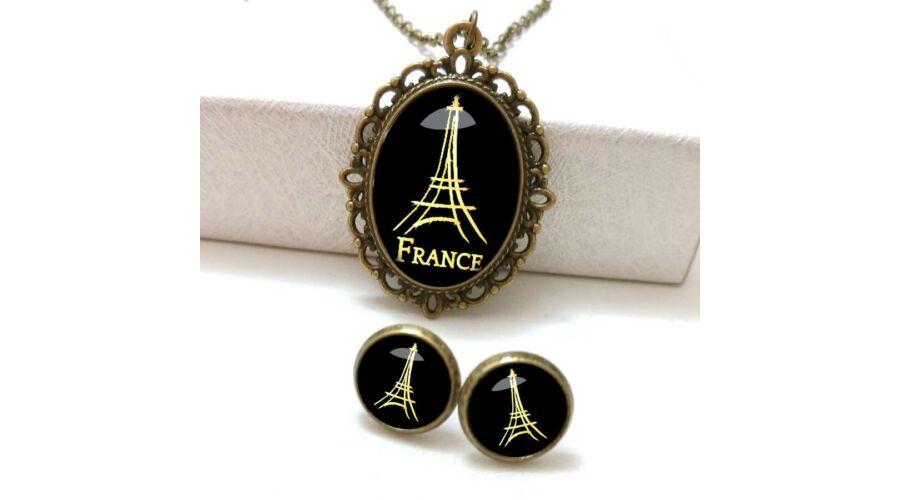 c178f282f6 Paris By Night ékszer szett (nyaklánc + bedugós füli)